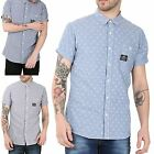 Cross Hatch Mens Patdown Turn Up Sleeve Front Buttons Chest Pocket Cotton Shirts