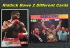RIDDICK BOWE _ 2 Different RARE Limited Print Cards _ Choose 1 Card or Several