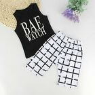 2pcs Toddler Kids Baby Boys T-shirt Tops+Casual Pants Summer Clothes Outfits Set