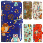 Ladies Faux Leather Multi Owl Long Coin Purse Womens Wallet Card Holder