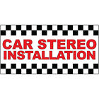 car installation shop - Car Stereo Installation Red Auto Car Repair Shop DECAL STICKER Retail Store Sign