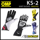 NEW! KK02742 OMP KS-2 KART KARTING GLOVES RUBBER GRIPS 3 COLOURS & 8 SIZES!