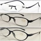 3 Pairs Defective Lenses TR90 Reading Glasses Lightweight Memory Plastic Frame