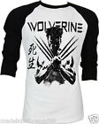 The Wolverine Super Heroes Hugh Jackman Marvel Comics Baseball 2 Tones Raglan