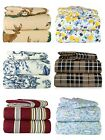 ALL SIZES! 100% Cotton Flannel 4 Piece Great Quality Bedding Super Sheet Sets image