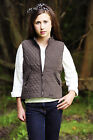 Childs Fitted Riding Equestrian Shooting Vest Peach Microfibre Soft Feel