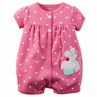 Carters Newborn 3 6 9 12 18 24 Months Mouse Romper Bodysuit Baby Girl Clothes