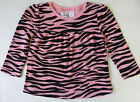 Jumping Beans 18 Months Pink Zebra Print Long Sleeve Top Baby Girl Clothes