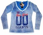 Nfl Womens Apparel - New York Giants Ladies Double-Dyed  Nfl Team Tee Shirt, nwt