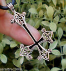INVERTED ST PETER CROSS CRUCIFIX SATANISM DEVIL W ball chain pvc cord keychain