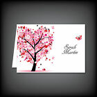 LUXURY Quality Personalised Wedding Place Setting Name Cards Pink Love Tree