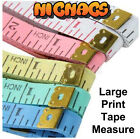 Tape Measure Large print 150 cm 60 inch Fabric with metal ends ideal sewing*
