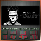 'Fight Club & Brad Pitt Movie Wall Art Deco Canvas Box