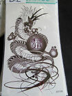 SHEET MENS BOYS ARTY CHINESE DRAGON WORDS TEMPORARY TATTOOS 20cmx10cm UK SELLER