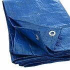 Multi Purpose Poly Tarp Blue Super Strength, Grommets Every 3 Ft