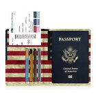 Passport Holder Travel Wallet Premium Vegan Leather RFID Blocking Case Cover