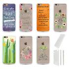 Faith Verse New Colorful Clear Cover TPU Plastic Back For iphone 5 5S 6 6S Plus