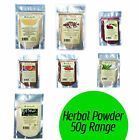 Dried HERBAL POWDERS Premium Range 50g from Healthy Aim