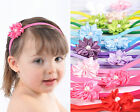 Baby & Girls Headband Hairband Satin Bow Daisy Flower, Pearl Centre. Stunning!