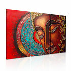 Buddha Face Abstract Wall Art Canvas 3 Panels