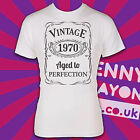 VINTAGE 1970's - AGED TO PERFECTION / MADE / BORN IN YEAR T-SHIRT! THE SEVENTIES
