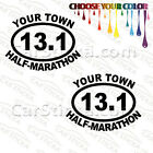 "2 of 5"" 13.1 Half Marathon Your Town Personalized /A run car stickers decals"