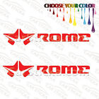 "2 of 8"" Rome Snowboard /A snowboard car window bumper stickers decals die cut"