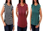 T19 Womens Fashion Chic Work Office Chiffon Sleeveless Summer Party Tops Blouse