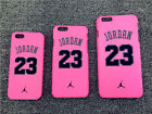 AJ Air Jordan 23 Chicago Bulls Frosted Hard Case for iPhone 6 6S Plus 5 5S Pink