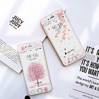 Cute Cartoon Plant Flower Soft Case With Tempered Glass for iPhone 6 6S 7 Plus