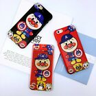 Funny Cartoon Pattern Couple Soft Gel Case Tempered Glass for iPhone 6 6S 7 Plus