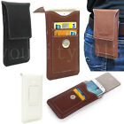 Luxury PU Leather Pocket Wallet Pouch Sleeve Case Belt Clip For Various Phones