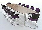 Barrel Shape Meeting / Boardroom / Conference Table Choice of Sizes & Finishes
