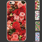 New TPU Silicone Flower PatternBumper Soft Back Cover Case For iPhone 6 6S Plus