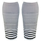 New Women's Fashion Stylish Stripe Bodycon Pencil Evening Party Long Midi Skirt