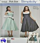 Simplicity Sewing Pattern 1155 Vintage 50's balcony Top Full Dress Pick Size
