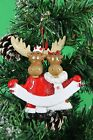 Personalised Couples Christmas Tree Ornament Decoration - Moose Couple