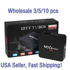 3/5/10 Pcs MXQ PRO 4K Amlogic S905 Quad Core Android 5.1 Smart TV Box HDMI