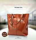 Women Cow Split Oil Wax Leather Tote Bag Shoulder Bag Elegant Bag Lady Handbag