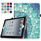 For Apple iPad 2, iPad 3 & iPad 4th Gen Case Folio Stand Cov