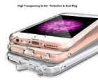 JK iPhone 6S 6Plus 7 7Plus Case for Apple Crystal Clear Slim Gel Cover Dust Plug