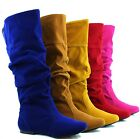Fashion Comfort Round Slouch Mid Calf Knee High Dress Casual Daily Boots Shoes
