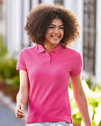 New Fruit of the Loom SS505 Womens Lady Fit Premium Polo Shirt 11Colours XS-2XL