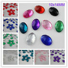 Oval 10X14MM Flatback Rhinestone Acrylic Crystal Scrapbooking Beads Craft DIY
