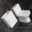 400mm Wall Hung Vanity Unit Basin Sink & Toilet Set cloakroom En suite Bathroom