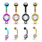 1pc Add-a-Charm Rose Gold, Yellow Gold, Black or Rainbow Belly Ring Navel Naval