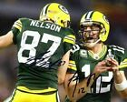 Aaron Rodgers Jordy Nelson Green Bay Packers Signed Photo Autograph Reprint
