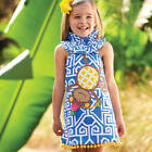 Mud Pie Safari Blue Monkey Dress Baby Toddler Girls 3M-5T #1142106 NWT