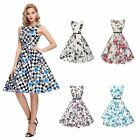Vintage Style 50'S 60'S Rockabilly Swing Pinup Retro Party Sexy Women Dress