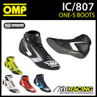 NEW! IC/807 2016 OMP ONE-S RACING BOOTS - LIGHTWEIGHT ULTRA SOFT LEATHER SHOES